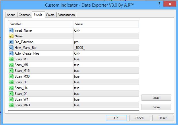 Data Exporter v3 for meta 4 Setting