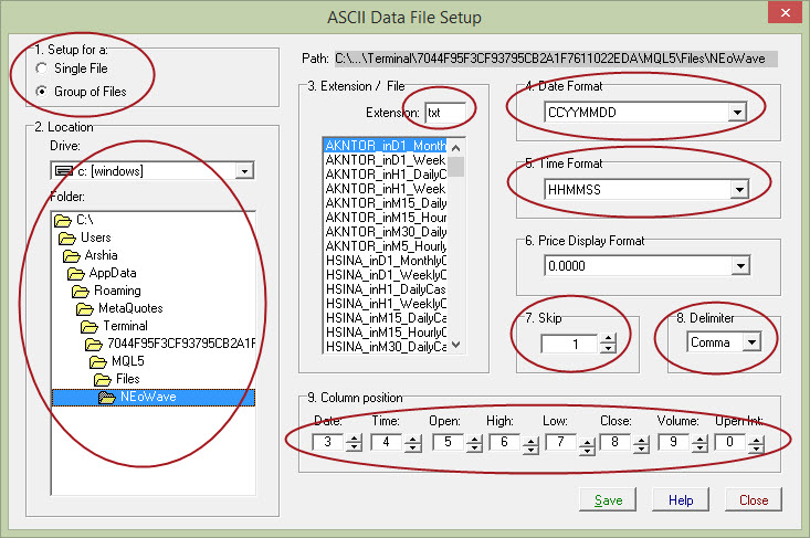 Cash Data Generator ASCII Setup