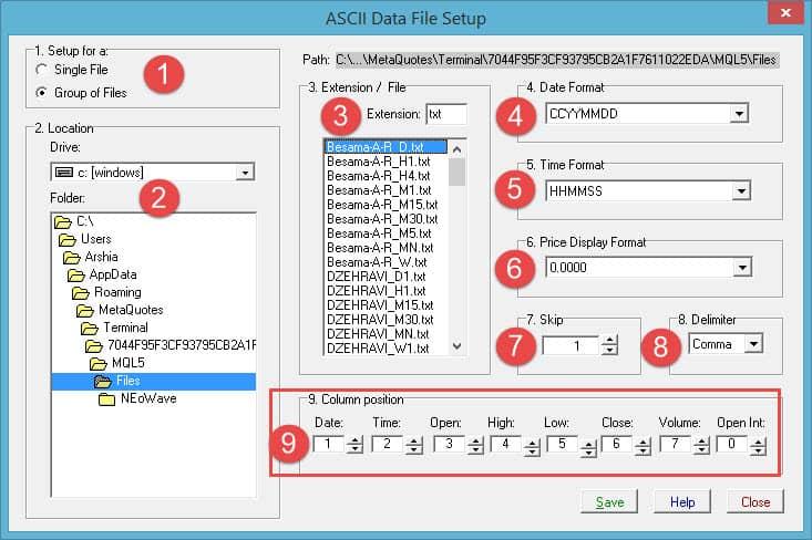 تنظیمات داینامیک تریدر | تصویر نهم از آموزش انتقال دیتا از متاتریدر به دیگر نرم افزارها