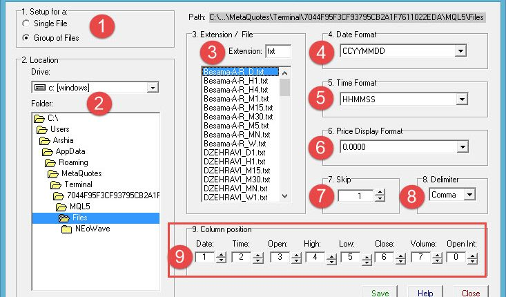 ASCII Setup for v4