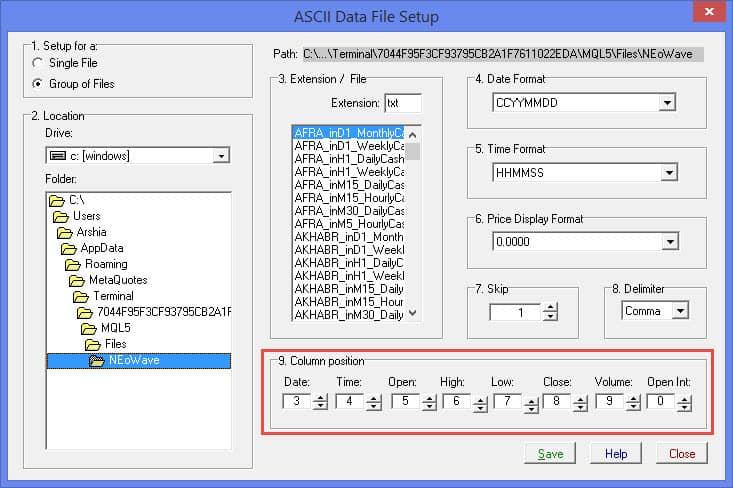 تنظیمات داینامیک تریدر برای دیتای اندیکاتور انتقال دیتای پرو | تصویر دهم از آموزش انتقال دیتا از متاتریدر به دیگر نرم افزارها